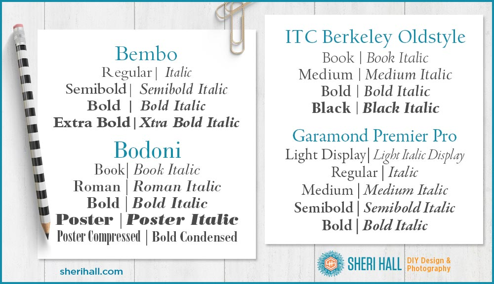 What font should I use? Serif edition - Sheri Hall