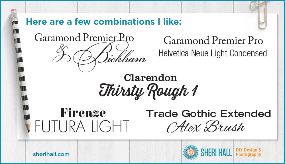 5 tips for font pairing - Sheri Hall