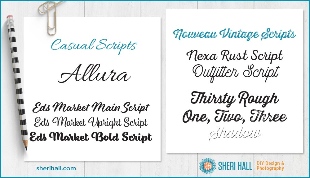 My 11 favorite script fonts and how to find alternate
