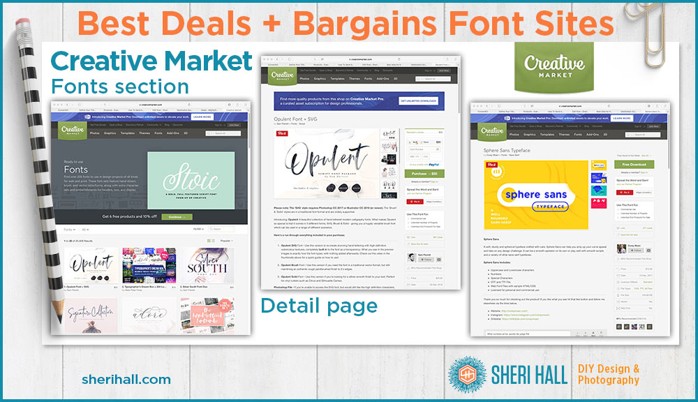 Best font websites: deals + bargains - Sheri Hall