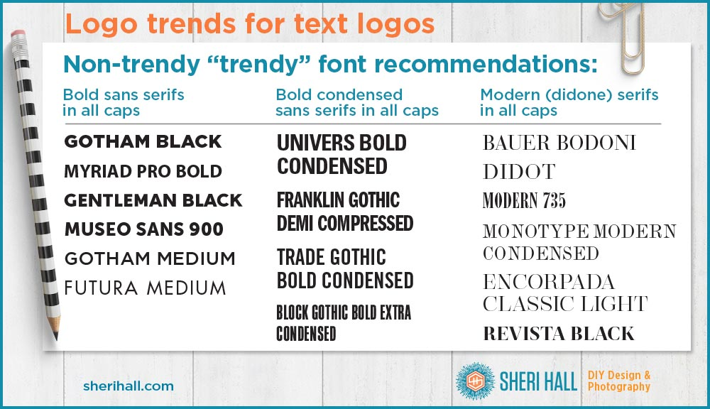 3 Logo trends in text logo design - Sheri Hall